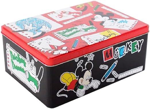 Mickey Mouse caja de metal rectangular para niños (22 x 16 x 9 cm): Amazon.es: Hogar
