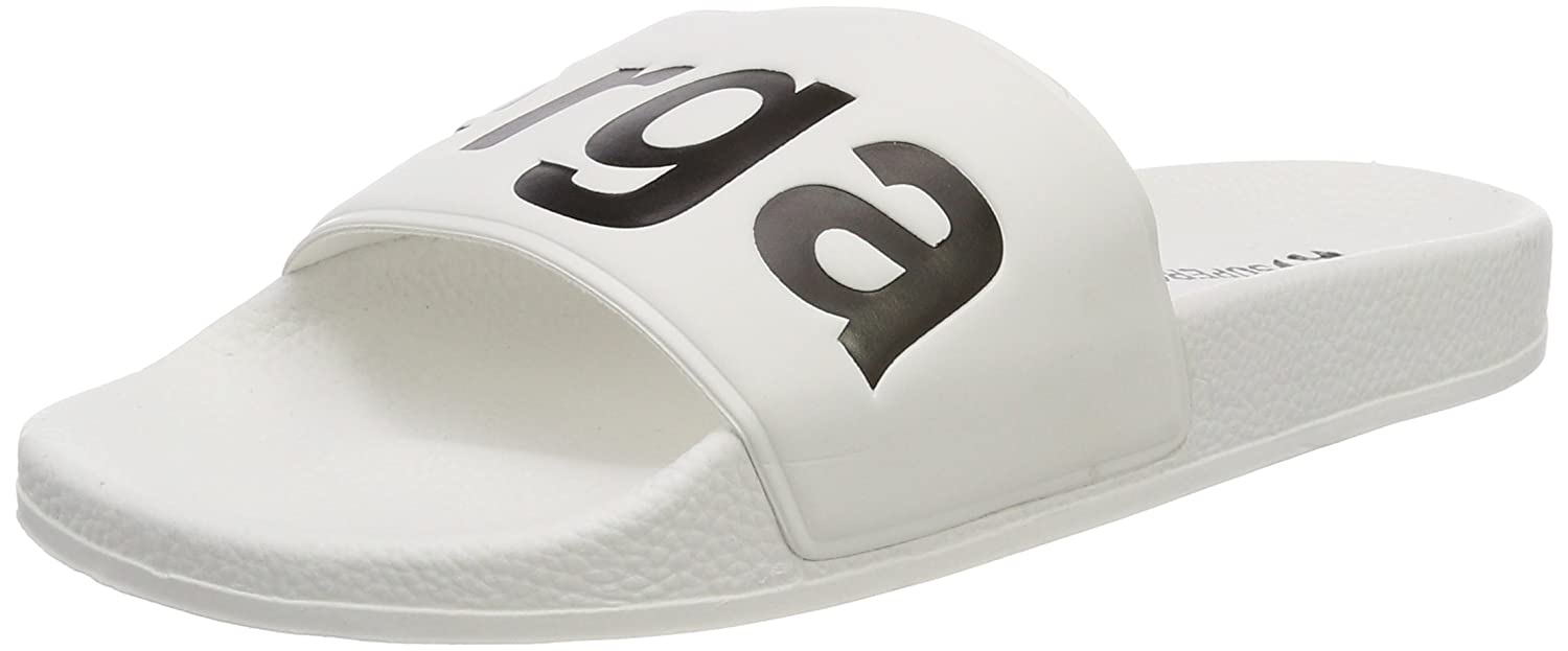 Superga Unisex-Erwachsene Slides PVC Slipper  46 EU|Wei? (White-black)