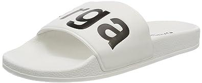 Unisex-Erwachsene Slides PVC Slipper, Weiß (White-Black), 42 EU Superga