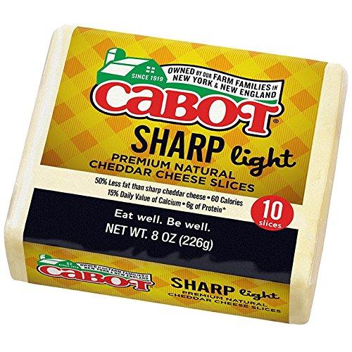 UPC 078354714980, Cabot Slices 50% Light Vermont Cheddar, 8 oz