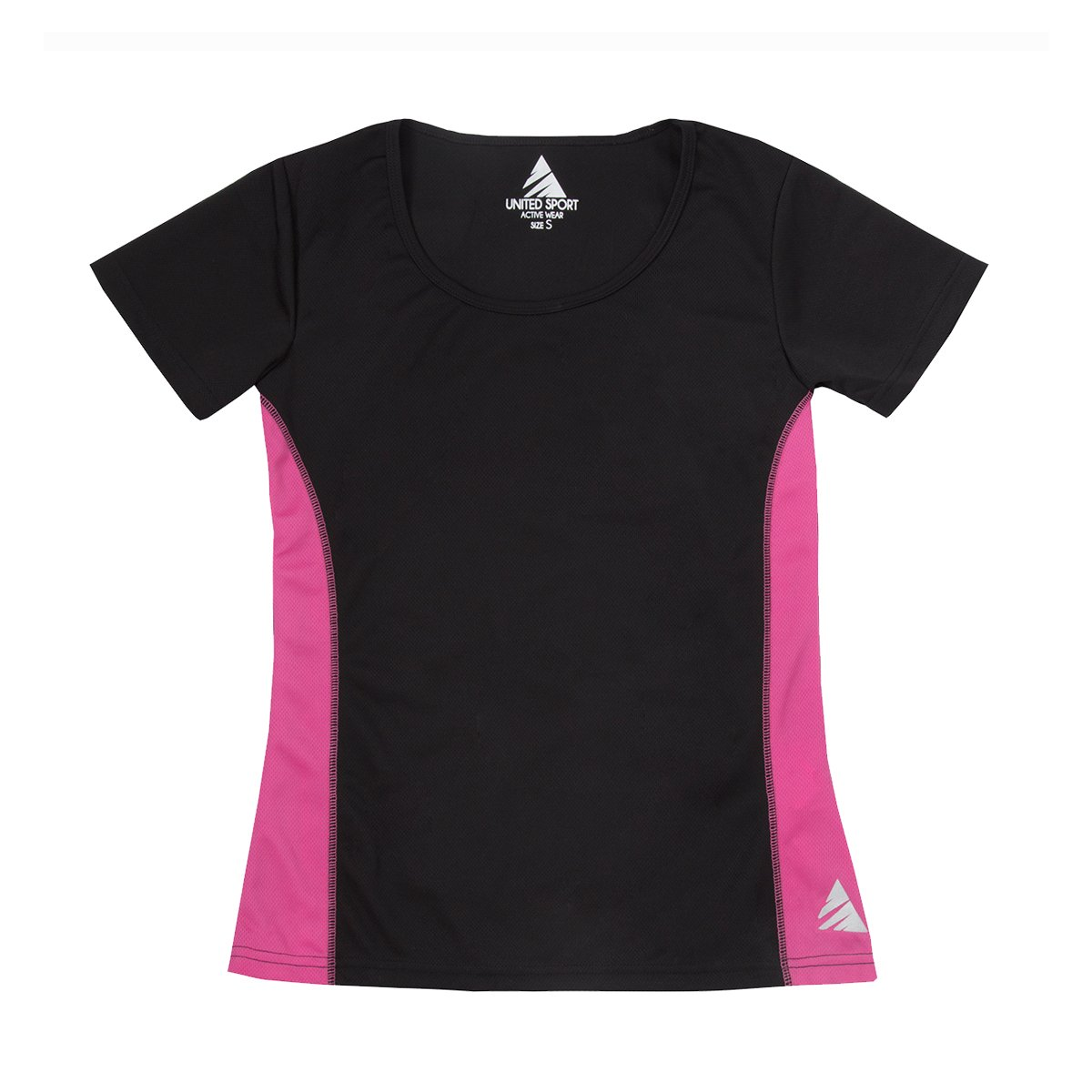 United Sport Women's Sports Top (Sizes S-2XL) High Performance Quick Dry Base Layer - Short Sleeve T-Shirt Great For Yoga Running Gym