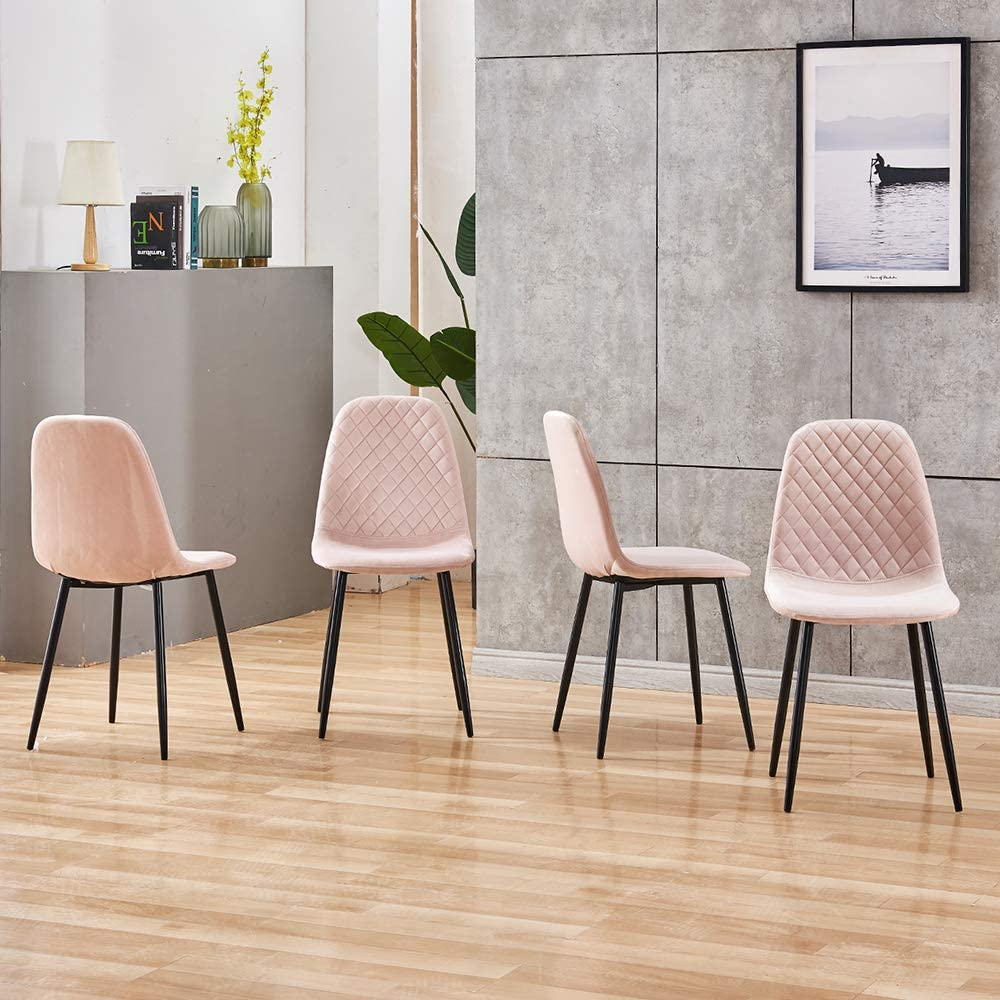 HomeSailing Occasional Pink Velvet Dining Chairs Set of 10 for Kitchen  Restaurant Modern Office Reception Chairs for Lounge Party Velvet  Upholstered