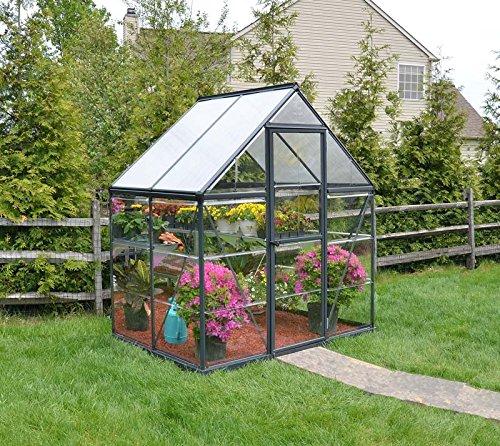 Palram Aluminium Gewachshaus Gartenhaus Hybrid 6x4 130x185x209 Cm