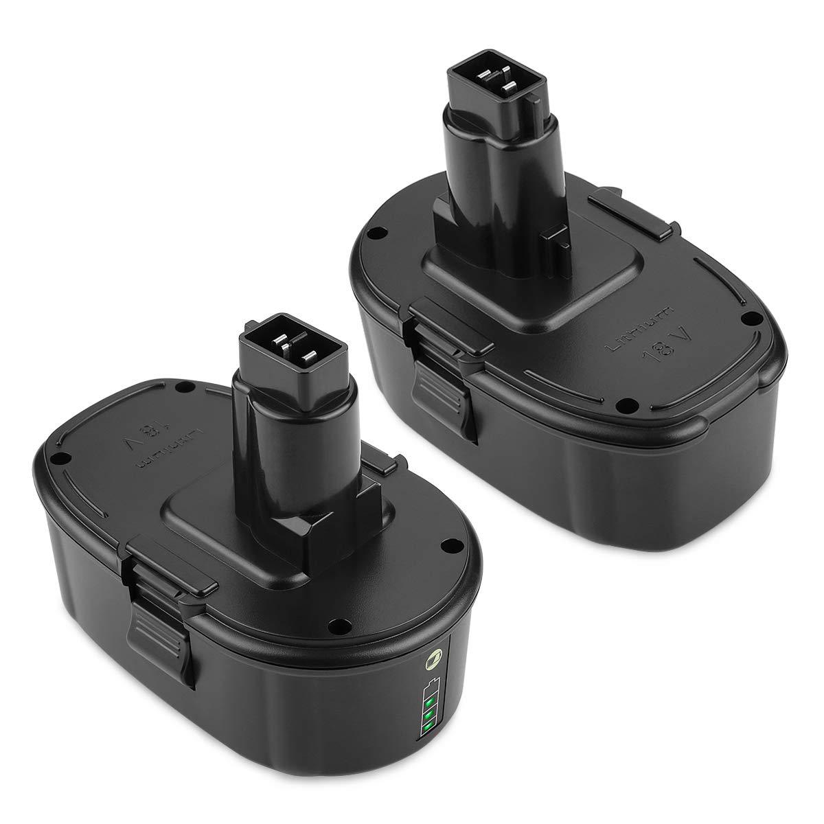[Upgraded] ANTRobut 5000mAh Replacement for 18V XRP Li-ion Dewalt 18V battery Dewalt DC9096 DC9098 DC9099 DE9039 DE9095 DE9096 DE9098 DW9095 DW9096 DW9098 DE9503 DC9182 Dewalt 18Volt Batteries(2Pack)