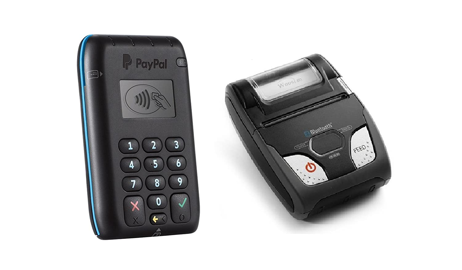 PayPal Chip Card Reader (EMV)  Chip Card, Contactless, or Apple Pay & Woosim wsp-r241 - Paypal Here Compatible Receipt Printer - From Pac Supplies USA ...