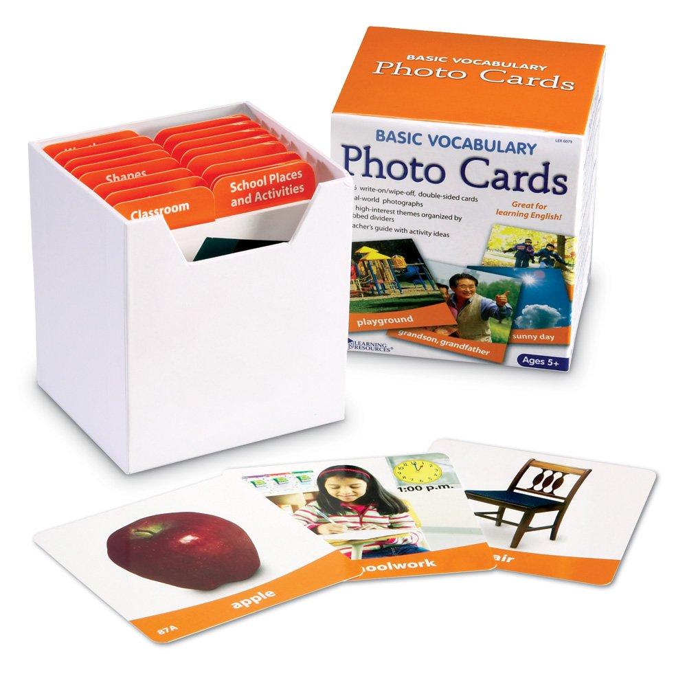 Learning Resources Basic Vocabulary Photo Cards 6