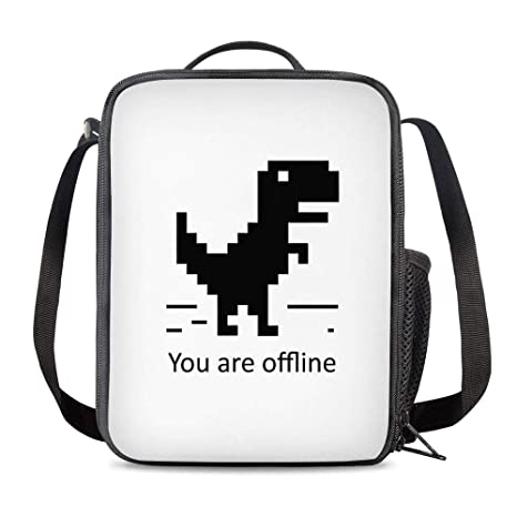 8c845f423a25 Amazon.com: PrelerDIY Pixel Dinosaur Lunch Bag Carrying Tote ...