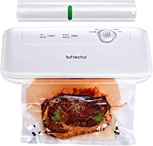 Vacuum Sealer, Bifrecho Food Saver Vacuum Sealer Machine, Automatic Vaccume Sealer Machine, Compact Vacuum Packing Machine, Seal A Meal Vacume Food Sealer w/Built-in Cutter, Removable Drip Tray, Roll