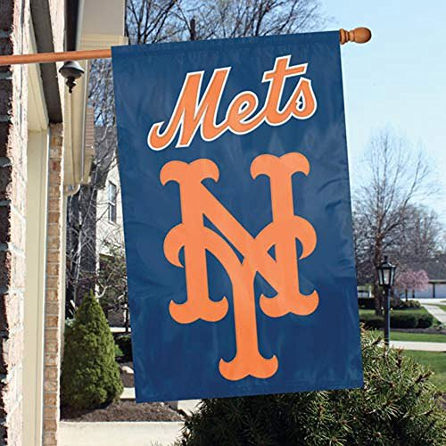 (Party Animal Official Major League Baseball Fan Shop Authentic MLB Team Sports Man Cave Flag - Banner (New York Mets))