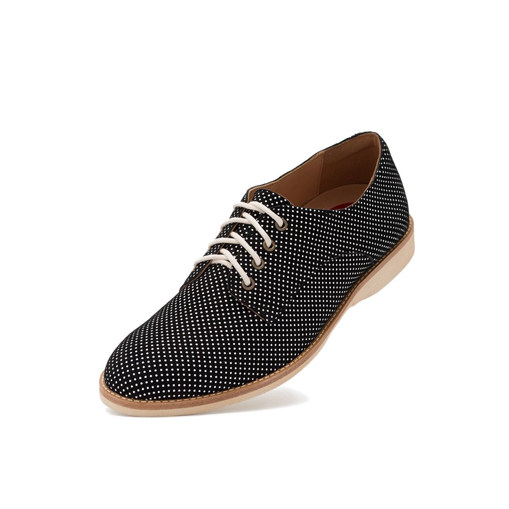 Rollie Women's Lightweight Derby Lace-up Flat Shoe B07BPHFTRL 42 M EU|Black Dream