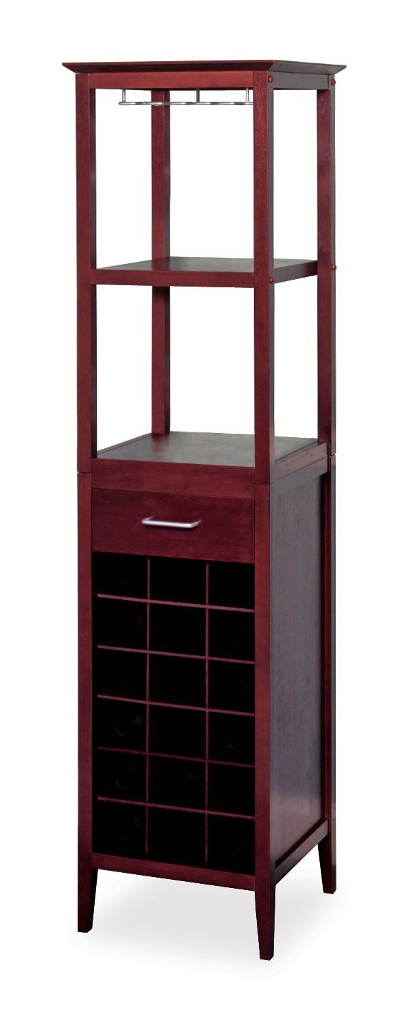 Winsome Wood Wine Tower Espresso Finish Winsome Trading Inc. 92567