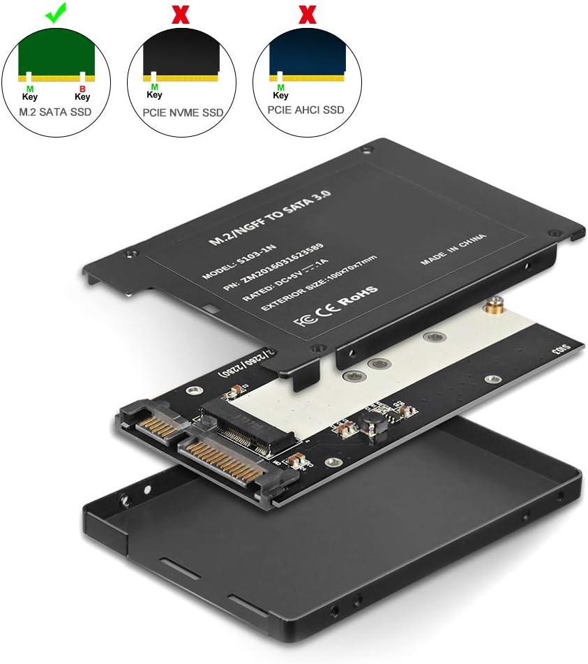gazechimp M.2 Aluminum NVME PCIE to USB3.1 Type-C Enclosure SSD to USB-C Adapter