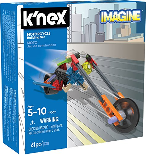 K'NEX – Motorcycle Building Set 61 Pieces For Ages 5+ Construction Education Toy
