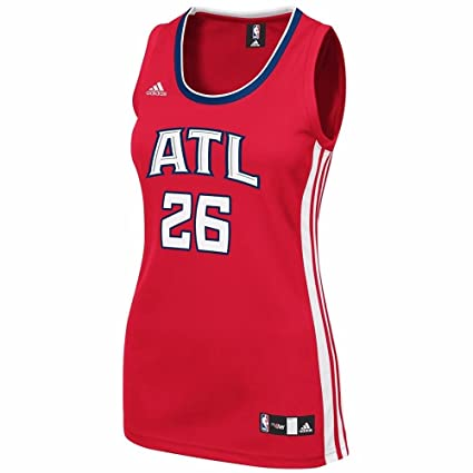 9caeaece295 Kyle Korver Atlanta Hawks NBA Adidas Women's Red 2014-15 Replica Jersey ...
