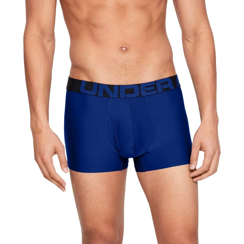 Under Armour Men's Tech 3'' Boxerjock - 1 Pack, Royal//Royal, X-Large by Under Armour