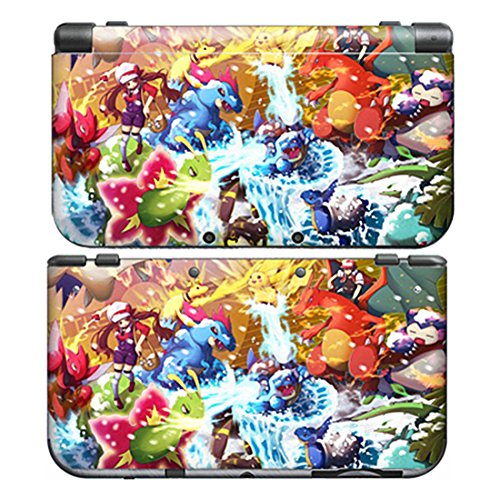 POKEMON XY for New Nintendo 3DS Skin New3DS N3DS Decal Sticker Vinyl Cover + Screen Protectors (Difference Between Ultra Sun And Ultra Moon)