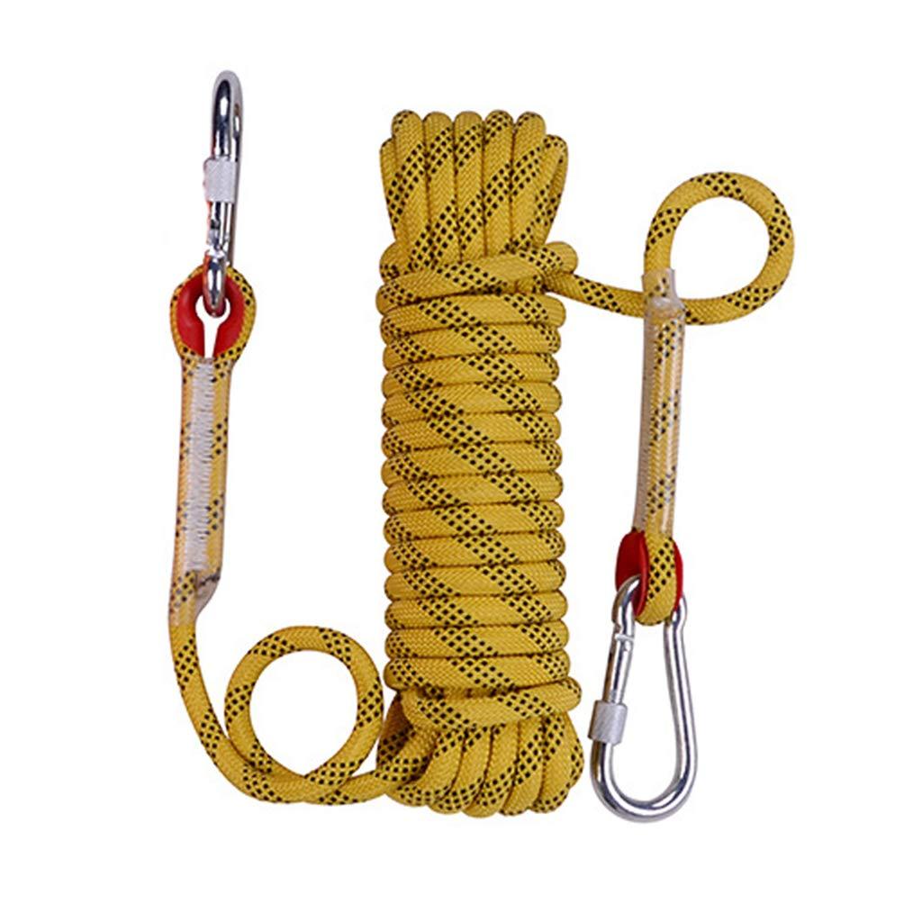 Jaune CLIMBING Corde S'élevante Extérieure De Corde De 12mm 10-50m Grimpant La Corde S'élevante Extérieure d'escalade De Corde d'escalade jaune- 12mm 30m 12mm 40m