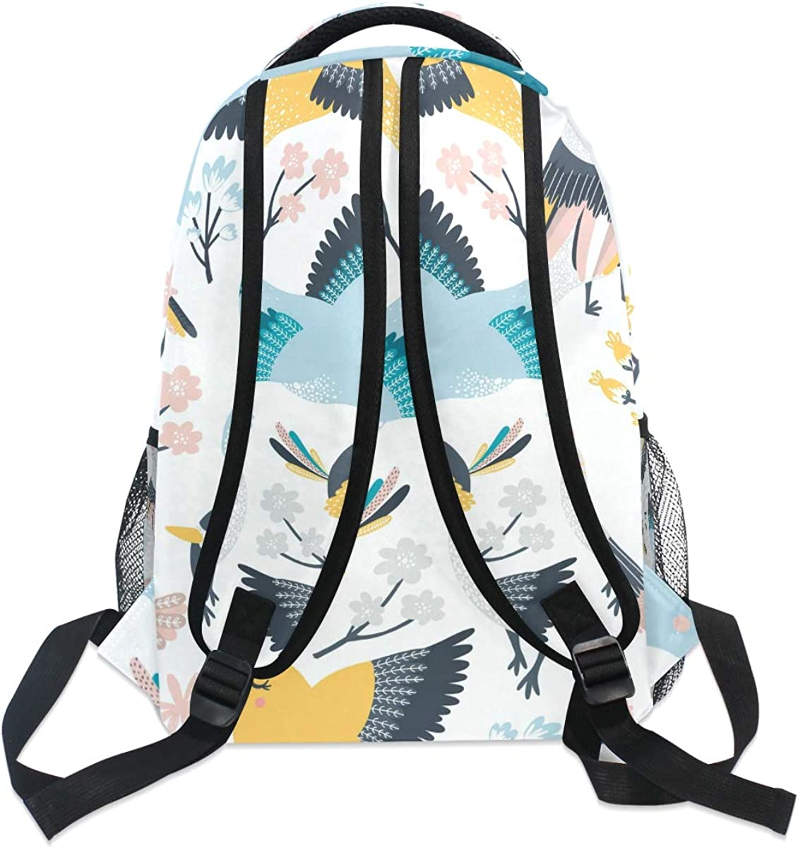 ILEEY Singing Birds Pattern Casual Backpack School Bag Computer Book Bag Travel Hiking Camping Daypack for Girls Boys Men and Women