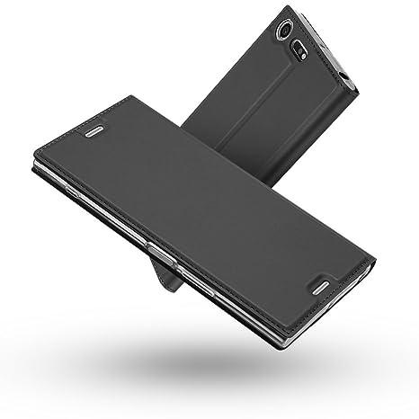 Radoo Funda Sony Xperia XZ Premium, Slim Case de Estilo Billetera Carcasa Libro de Cuero,PU Leather con TPU Silicona Case Interna Suave [Cierre ...