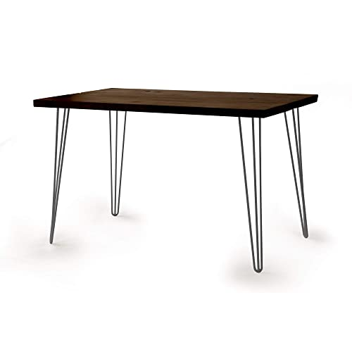 Amazon Com Wooden Desk With Raw Hairpin Legs Solid Wood