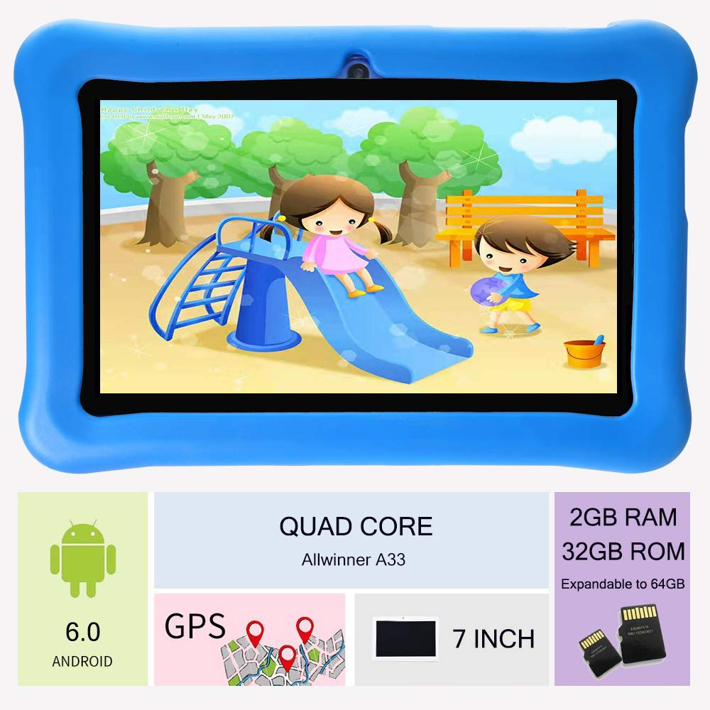 Tablet para Niños 7 Pulgadas con WiFi Android 6.0 Quad Core 2GB de ...