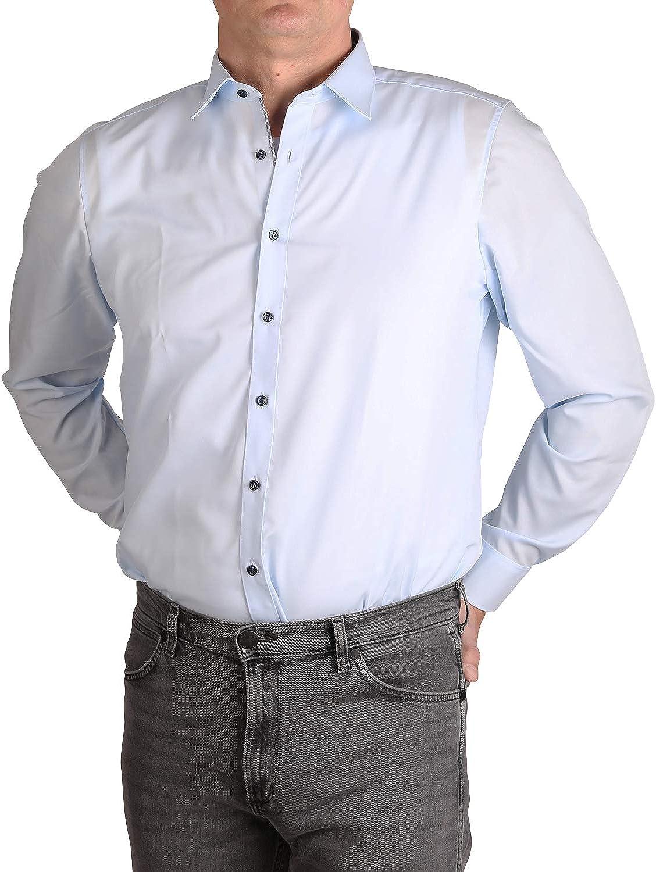 Marvelis Body Fit Camisa azul claro fácil de planchar, 100% algodón azul claro 40: Amazon.es: Ropa y accesorios