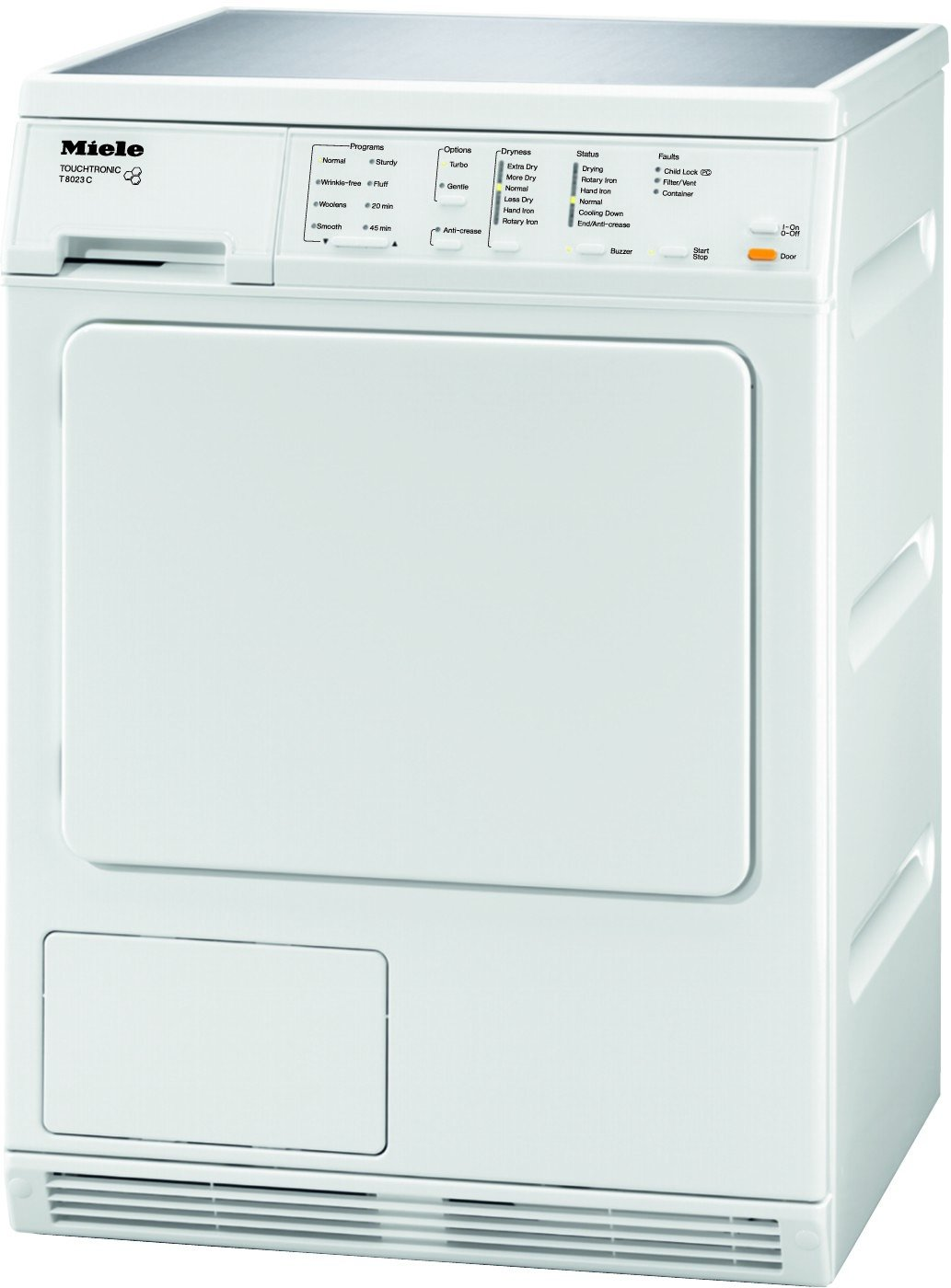 Miele stackable washer dryer ventless - Amazon Com Miele T8023c Touchtronic 24 White Stackable Electric Dryer Appliances