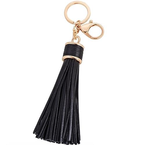 ac52ad6cb7 Amazon.com  Elesa Miracle Girl Women Leather Tassel Keychain ...