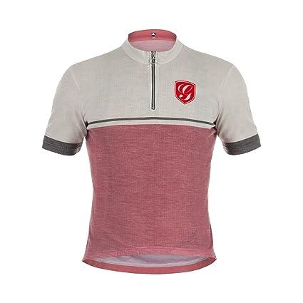 0ad6e5d28 Giordana Sport Merino Wool Blend Jersey - Men s Beige Burgundy Red Accents