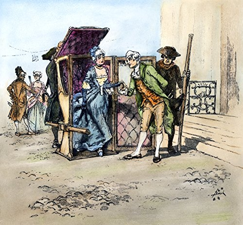 - Sedan Chair 18Th Century Nan 18Th Century Lady Being Helped Out Of Her Sedan Chair Wood Engraving 1884 After Reginald Birch Poster Print by (24 x 36)