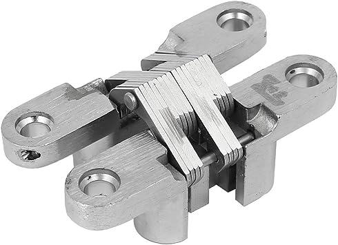 Aexit Gabinete Armario Puerta corredera Plegable Cruz oculta Bisagra Tono plateado (model: A5658IVVIII-3128BF) 60 mm Longitud: Amazon.es: Bricolaje y herramientas