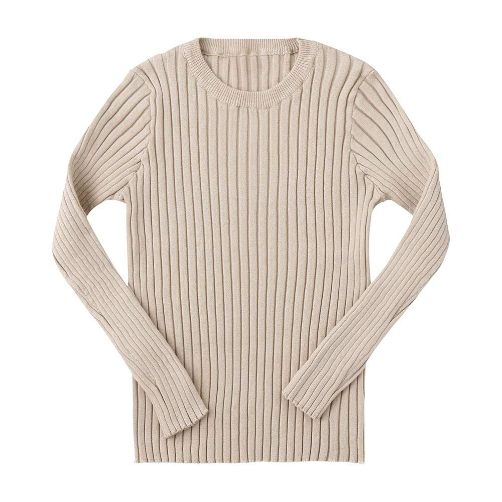 Zeside Kids Boys Girls Baby Ribbed Knit Sweater Soft Warm Childrens Sweater Pullover