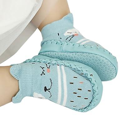 12c79c6aa098f Lunji Chaussons Chaussette Antiderapante Bebe Garçon Fille Cuir Artificiel   Amazon.fr  Vêtements et accessoires