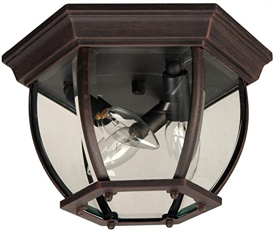 Craftmade z433 07 outdoor flush mount light with beveled glass craftmade z433 07 outdoor flush mount light with beveled glass shades rust finish workwithnaturefo