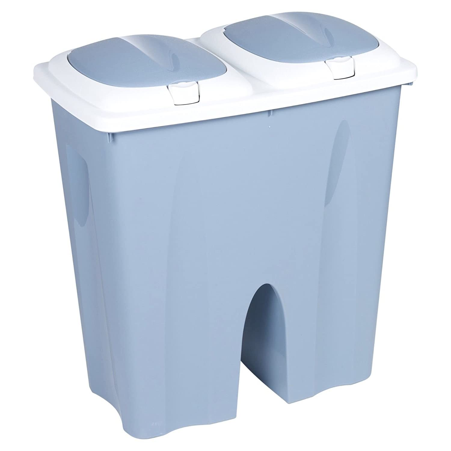 Duo Double Recycling Bin 50L Twin Compartment Kitchen Rubbish ...