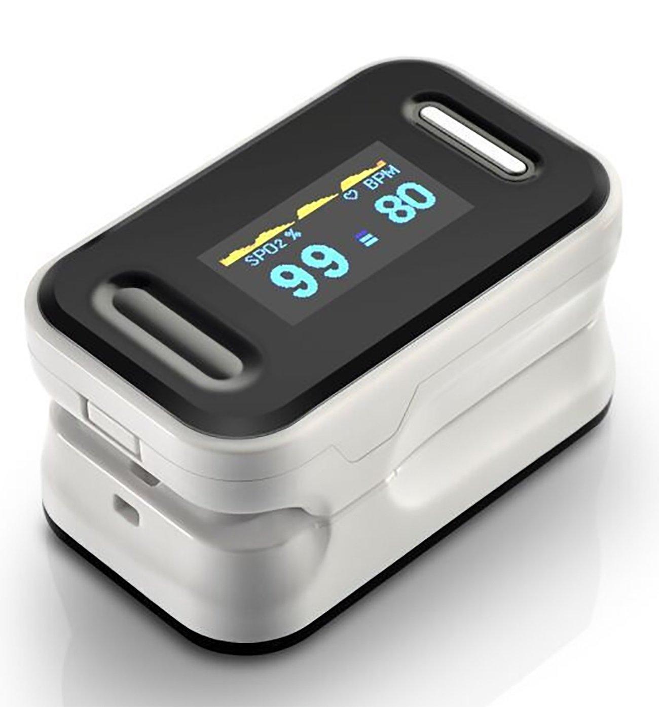 Fingertip Pulsoximeter Portable Blutsauerstoffsättigung Monitor Ergonomische Pulsoximeter