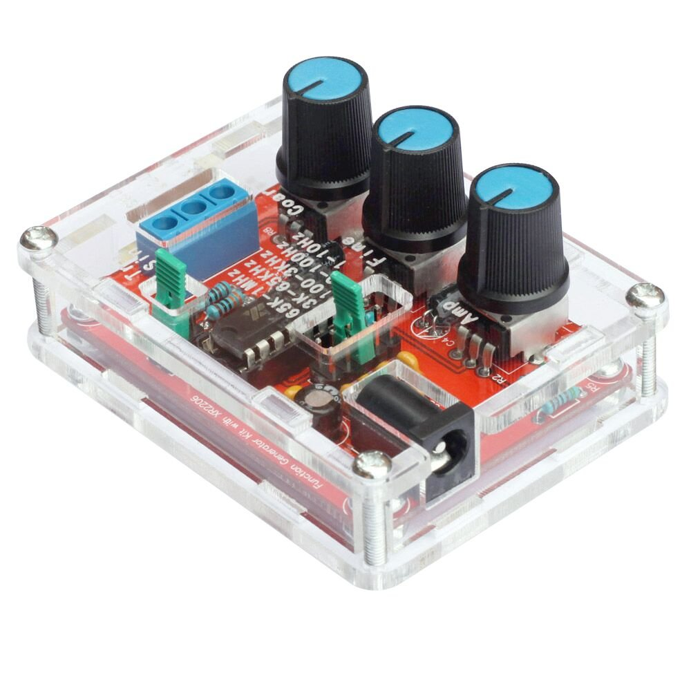 Signal Generator DIY Kit, KKmoon XR2206 High Precision Function Signal Generator DIY Kit Sine/Triangle/Square Output 1Hz-1MHz Adjustable Frequency MP26174598