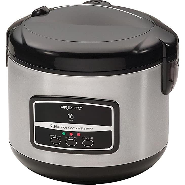 Presto 05813 16-Cup Digital Stainless Steel Rice Cooker