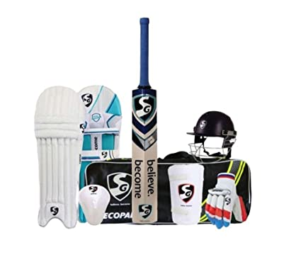 34e6ae176 Buy SG Multicolor Economy Cricket Set Size- 6 with Helmet Online at Low  Prices in India - Amazon.in