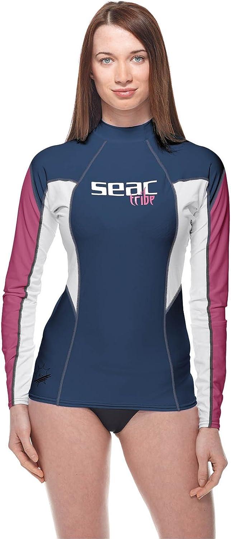 Seac RAA Long EVO Donna Rash Guard - Camiseta de protección contra Rayos UV para esnórquel y natación (Manga Larga) Mujer