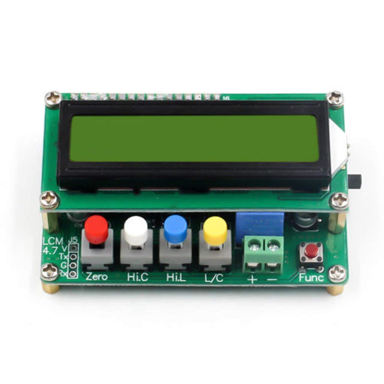 LC100-A Instruments de test de condensateur de capacit/é capacim/étrique L//C Indicateur LCD num/érique complet pour LCD haute pr/écision multicolore FRjasnyfall
