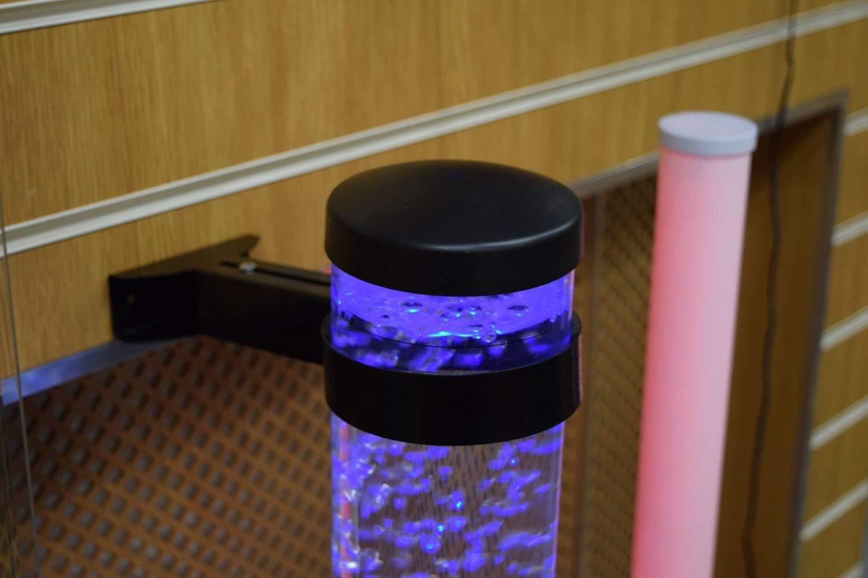 Sensory Led Bubble Tube 3 Foot Tank With 8 Fake Fish Floor Lamp