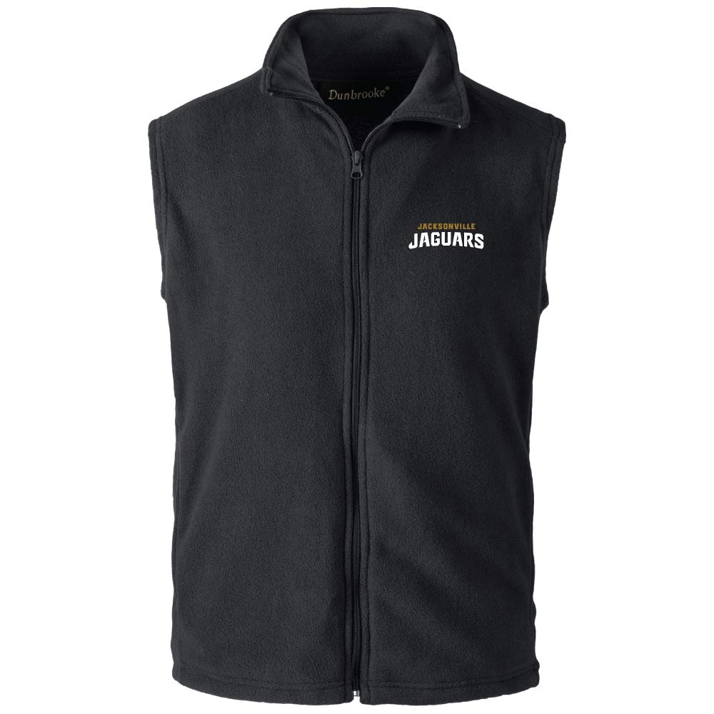NFL Jacksonville Jaguars Mens Houston Fleece Vest 5X-Large Black