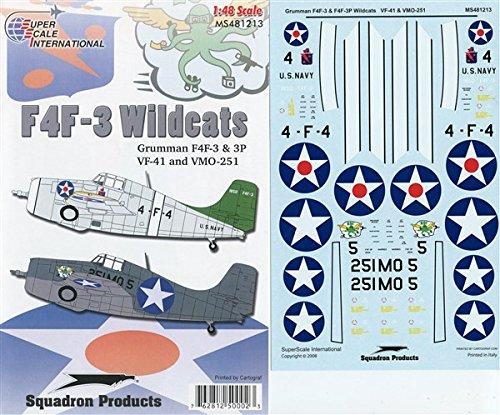 48 Grumman F4F-3 & F4F-3P Wildcats VF-41 VMO-251 #MS481213 (Grumman F4f 3 Wildcat)