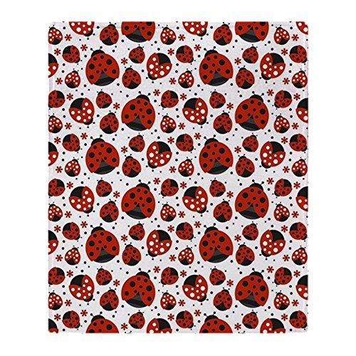 CafePress Little Ladybugs Soft Fleece Throw Blanket, 50