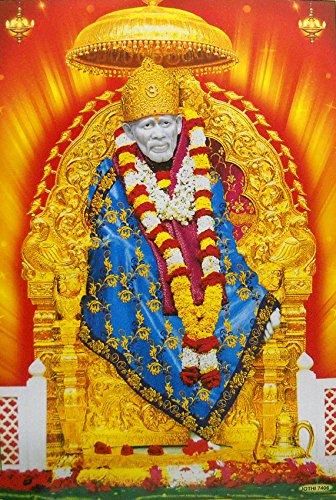 Shirdi Sai baba/ Hindu God Big Poster -reprint on paper