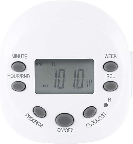 Ge 7 Day Programmable Digital Timer 1 Outlet Polarized Plug In Indoor Led Cfl Incandescent Ideal For Lamps Portable Fans Seasonal Lighting
