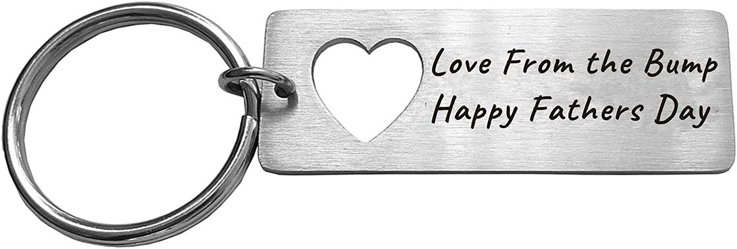 Love from Bump Fathers Day Gifts Daddy to be First Fathers Day Gift Keyring