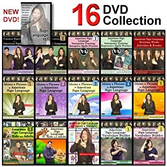 Amazon com: 16-DVD Complete American Sign Language DVD Library - NEW