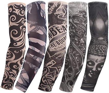 el brazo de 5 piezas tatuaje de la manga del guante más caliente ...